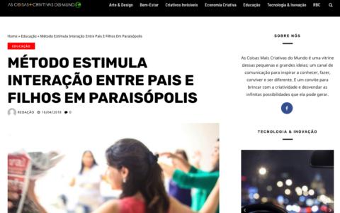 MÉTODO ESTIMULA INTERAÇÃO ENTRE PAIS E FILHOS EM PARAISÓPOLIS